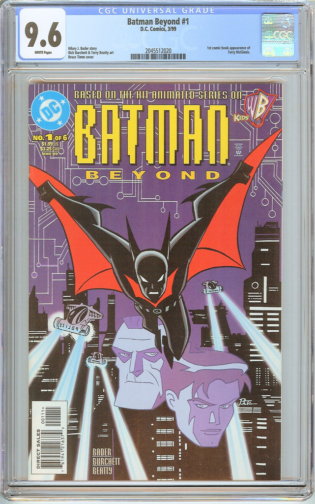 Batman Beyond #1 CGC 9.6 White Pages 2045512020 1st Terry McGinnis