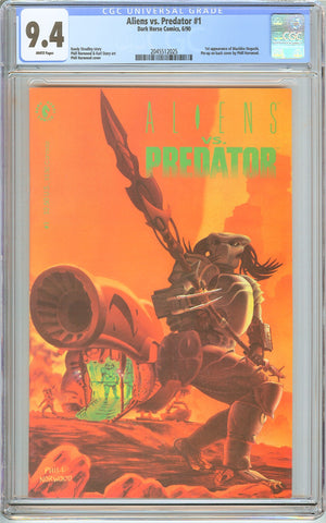 Aliens vs. Predator #1 CGC 9.4 White Pages (1990) 2045512025