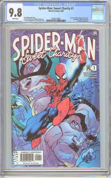 Spider-Man Sweet Charity #1 CGC 9.8 White Pages (2002) 2045513001