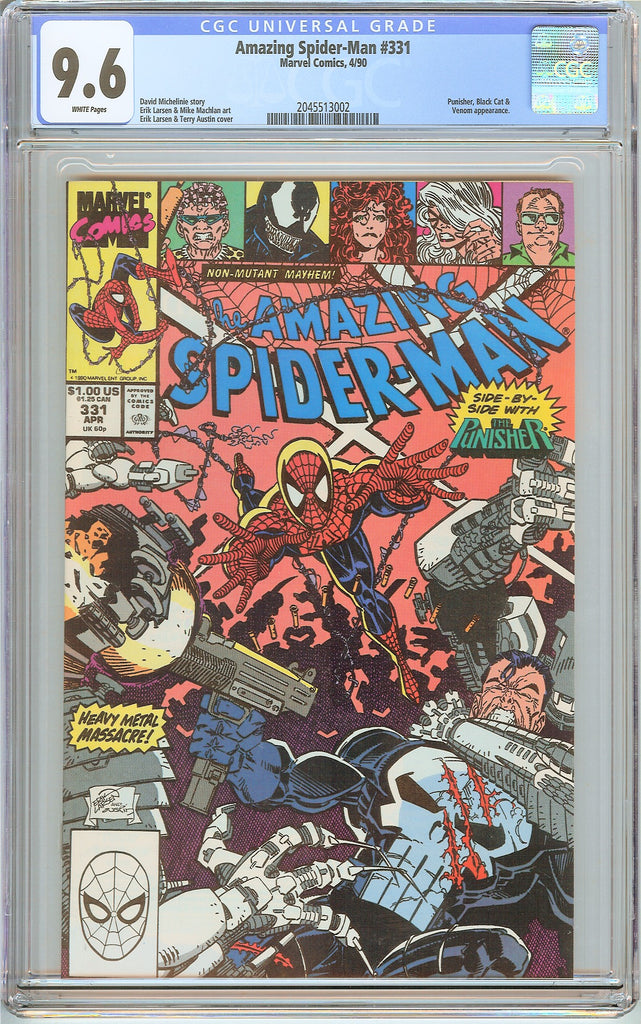 Amazing Spider-Man #331 CGC 9.6 White Pages (1990) 2045513002