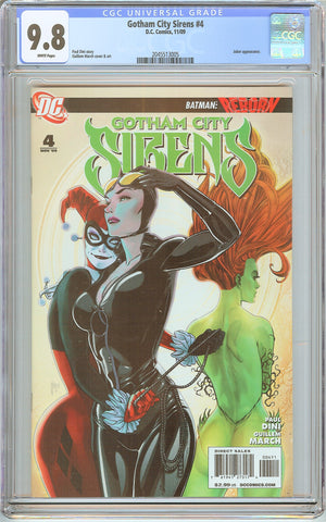 Gotham City Sirens #4 CGC 9.8 White Pages (2009) 2045513005