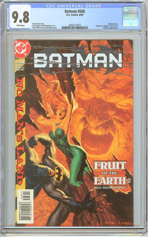 Batman # 568 CGC 9.8 White Pages 2045513015