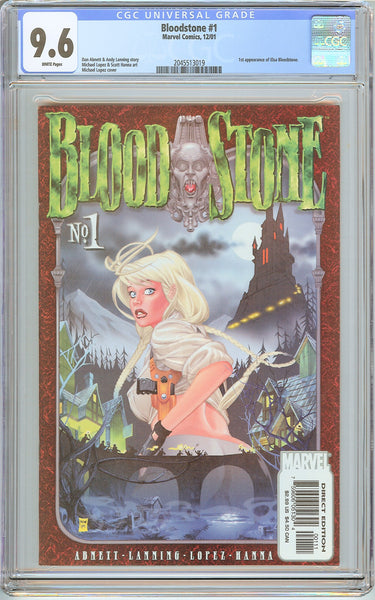 Bloodstone #1 CGC 9.6 White Pages (2001) 2045513019