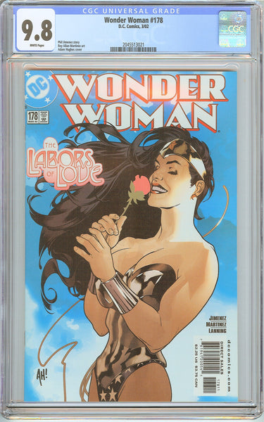 Wonder Woman #178 CGC 9.8 White Pages 2045513021 Adam Hughes cover