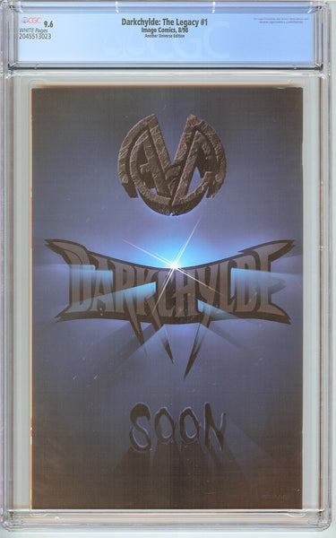 Darkchylde The Legacy #1 CGC 9.6 White Pages 2045513023 Gold Foil Logo