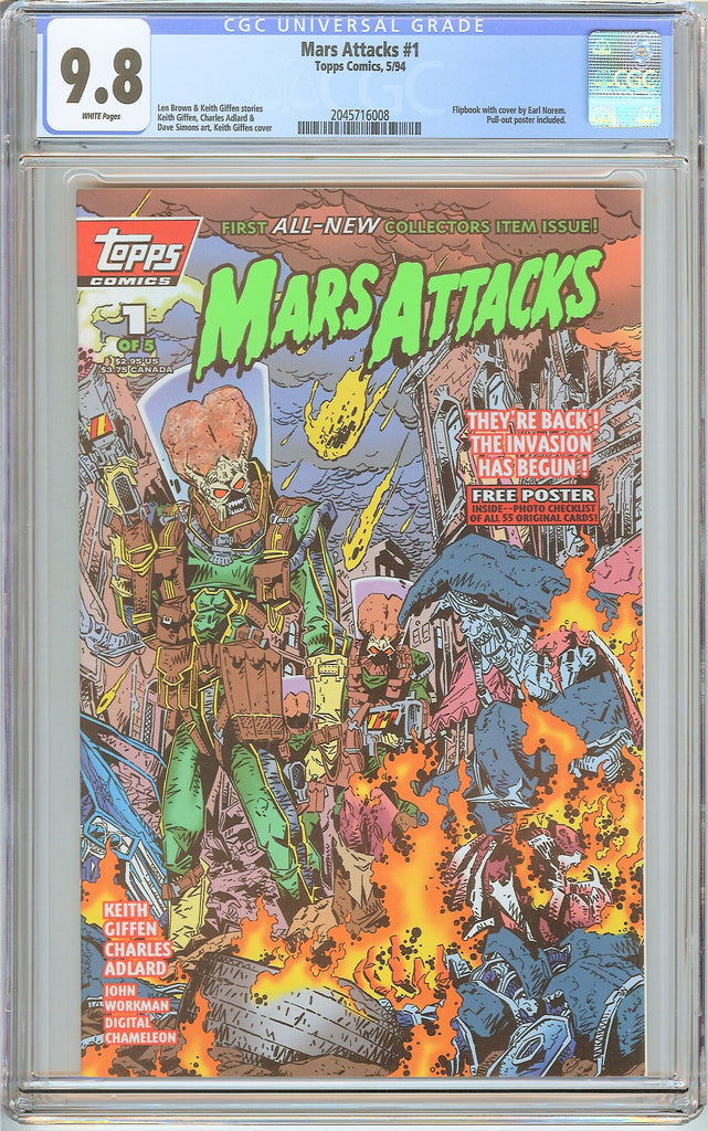 Mars Attacks #1 Topps Comics (1994) CGC 9.8 White Pages 2045716008