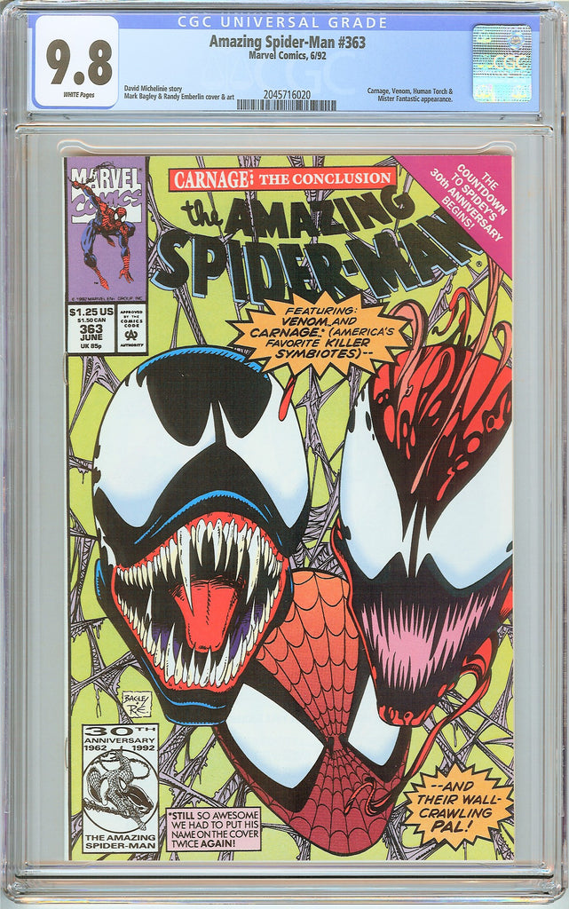 Amazing Spider-Man #363 CGC 9.8 White Pages (1992) 2045716020