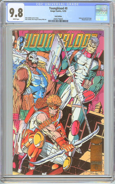 Youngblood #0 CGC 9.8 White Pages (1992) 2045716025 Gold Edition