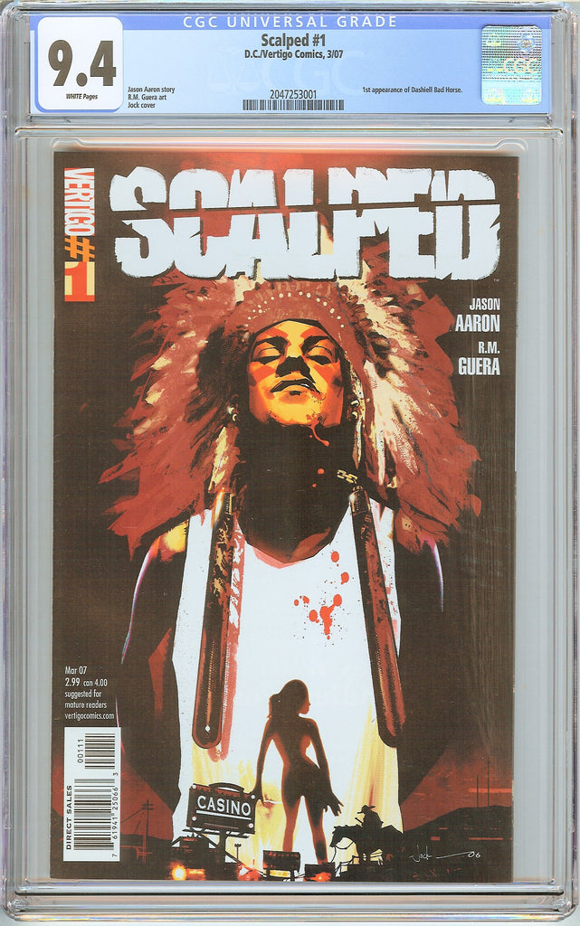 Scalped #1 CGC 9.4 White Pages (2007) 2047253001