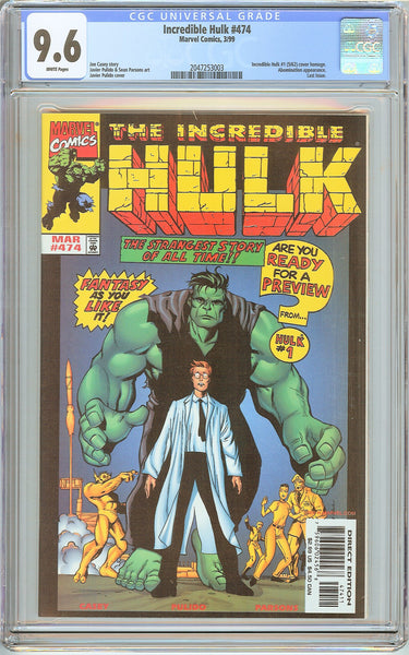 Incredible Hulk #474 CGC 9.6 White Pages (1999) 2047253003 Last Issue