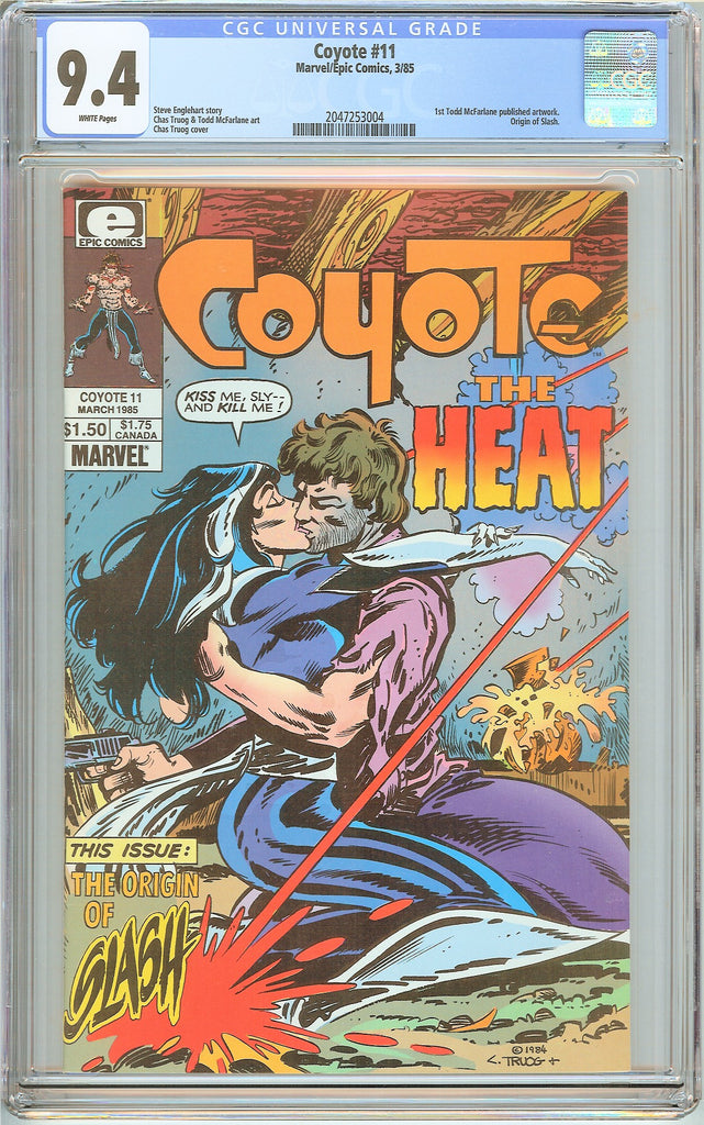 Coyote #11 CGC 9.4 White Pages (1985) 2047253004