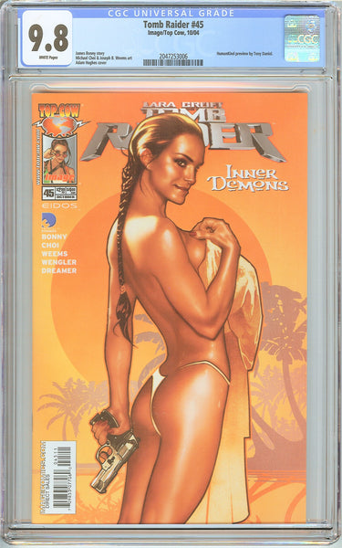 Tomb Raider #45 CGC 9.8 White Pages 2047253006 Adam Hughes cover