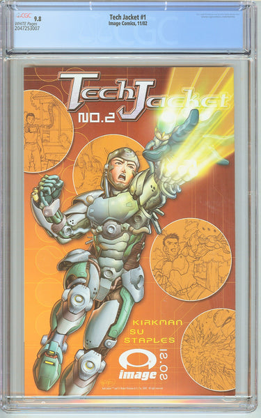 Tech Jacket #1 CGC 9.8 White Pages (2002) 2047253007
