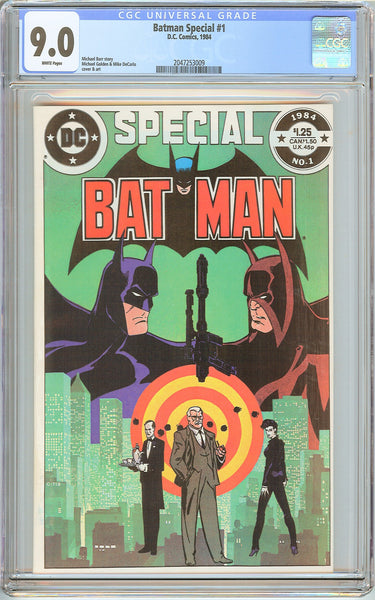 Batman Special #1 CGC 9.0 White Pages (1984) 2047253009