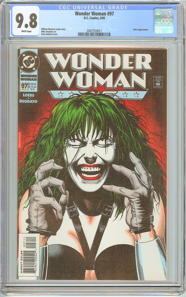 Wonder Woman #97 CGC 9.8 White Pages 2047253011 Bolland Cover