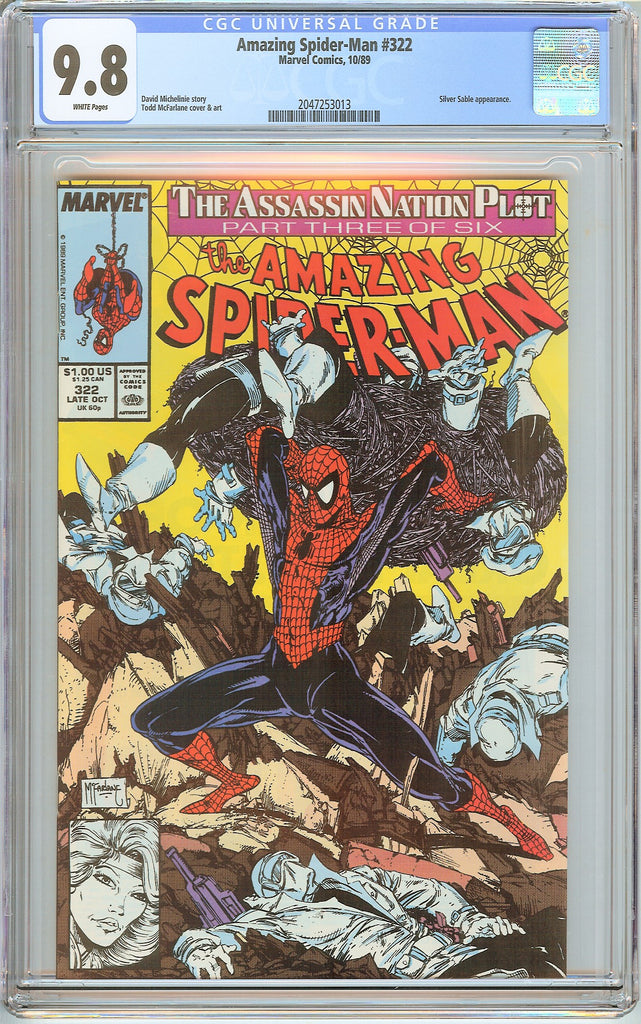 Amazing Spider-Man #322 CGC 9.8 White Pages (1989) 2047253013