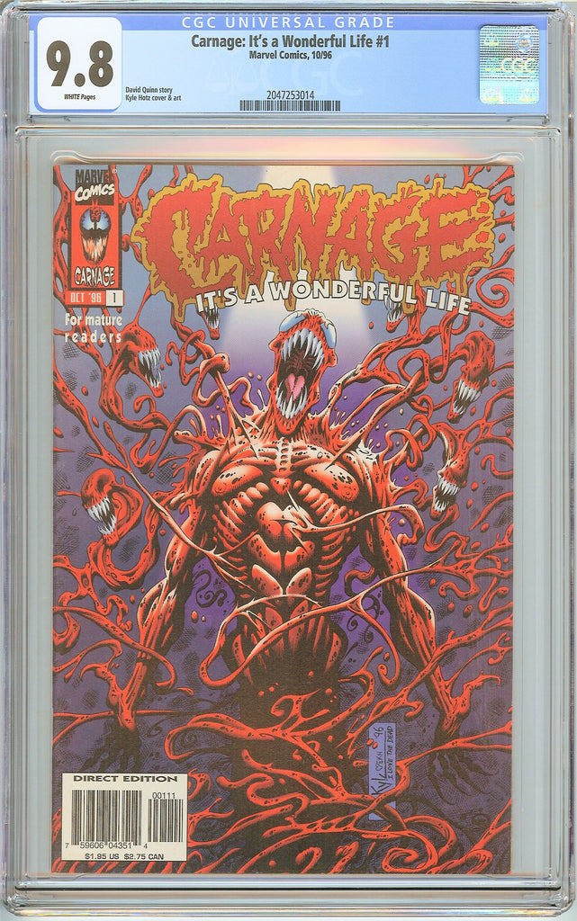 Carnage It's a Wonderful Life #1 CGC 9.8 White Pages 2047253014