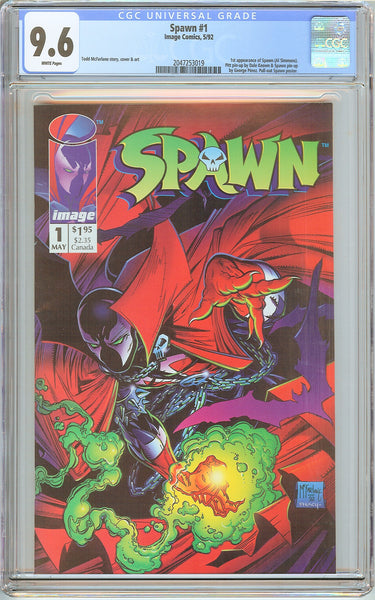 Spawn #1 CGC 9.6 White Pages (1992) 2047253019