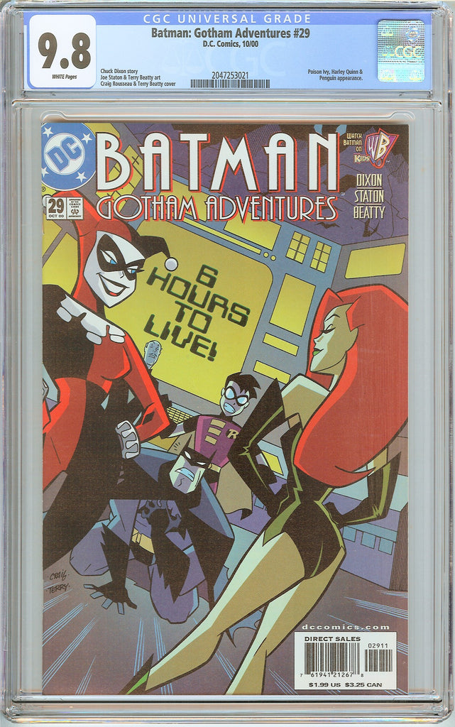 Batman Gotham Adventures #29 CGC 9.8 White Pages (2000) 2047253021
