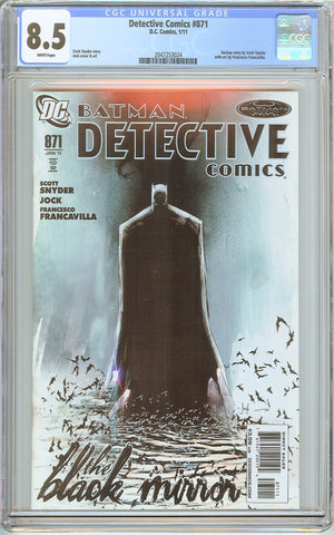 Detective Comics #871 CGC 8.5 White Pages 2047253024