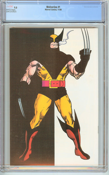 Wolverine #1 CGC 9.0 White Pages (1988) 2047253025