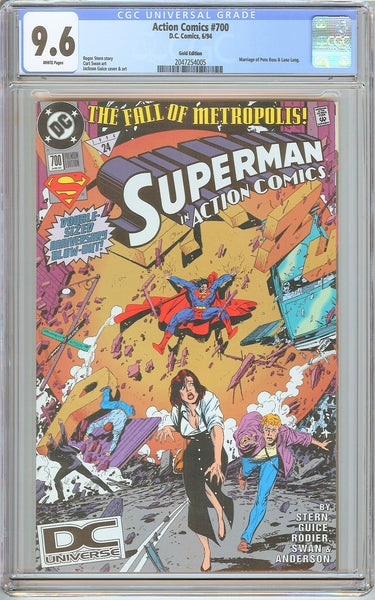 Action Comics #700 CGC 9.6 White Pages (1994) 2047254005 Gold Edition
