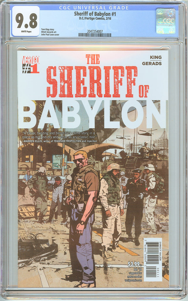 Sheriff of Babylon #1 CGC 9.8 White Pages (2016) 2047254007