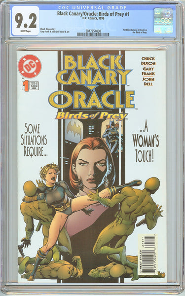 Black Canary/Oracle: Birds of Prey #1 CGC 9.2 White Pages 2047254008