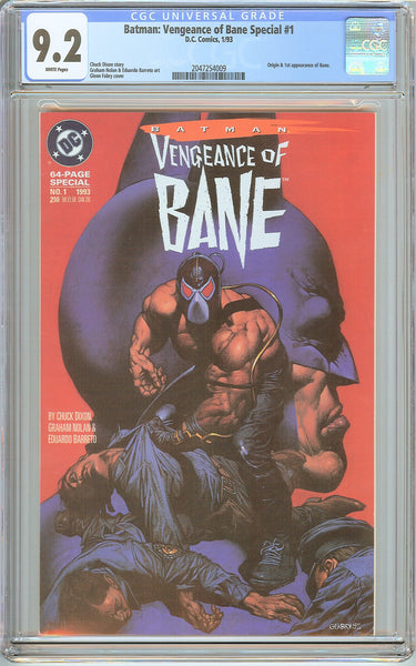 Batman: Vengeance of Bane Special # 1 (1993) CGC 9.2 White Pages 2047254009