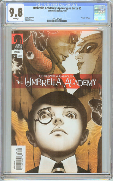 Umbrella Academy: Apocalypse Suite #5 CGC 9.8 White Pages 2047254021