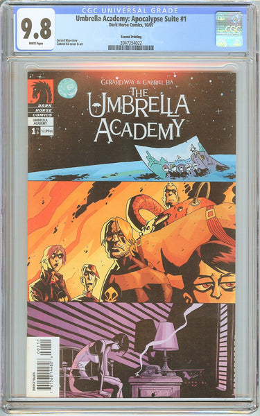 Umbrella Academy: Apocalypse Suite #1 CGC 9.8 White Pages 2047254022 2nd Print
