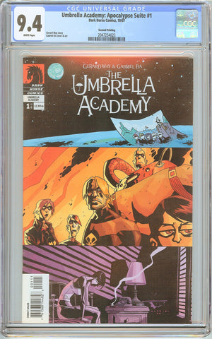Umbrella Academy: Apocalypse Suite #1 CGC 9.4 White Pages 2047254023 2nd Print