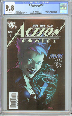 Action Comics #835 CGC 9.8 White Pages (2006) 2047289020 Livewire