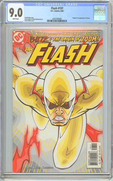 Flash #197 CGC 9.0 White Pages 2047295002 1st Zoom