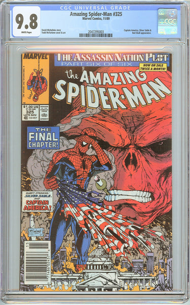 Amazing Spider-Man #325 CGC 9.8 White Pages (1989) 2047295003