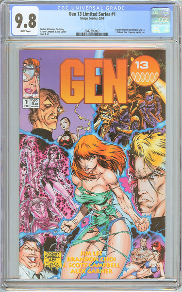 Gen 13 #1 Limited Series CGC 9.8 White Pages (1994) 2047295007