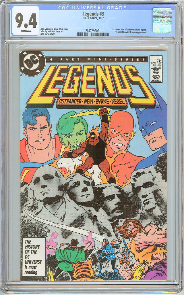 Legends #3 CGC 9.4 White Pages 2047295021 1st new Suicide Squad