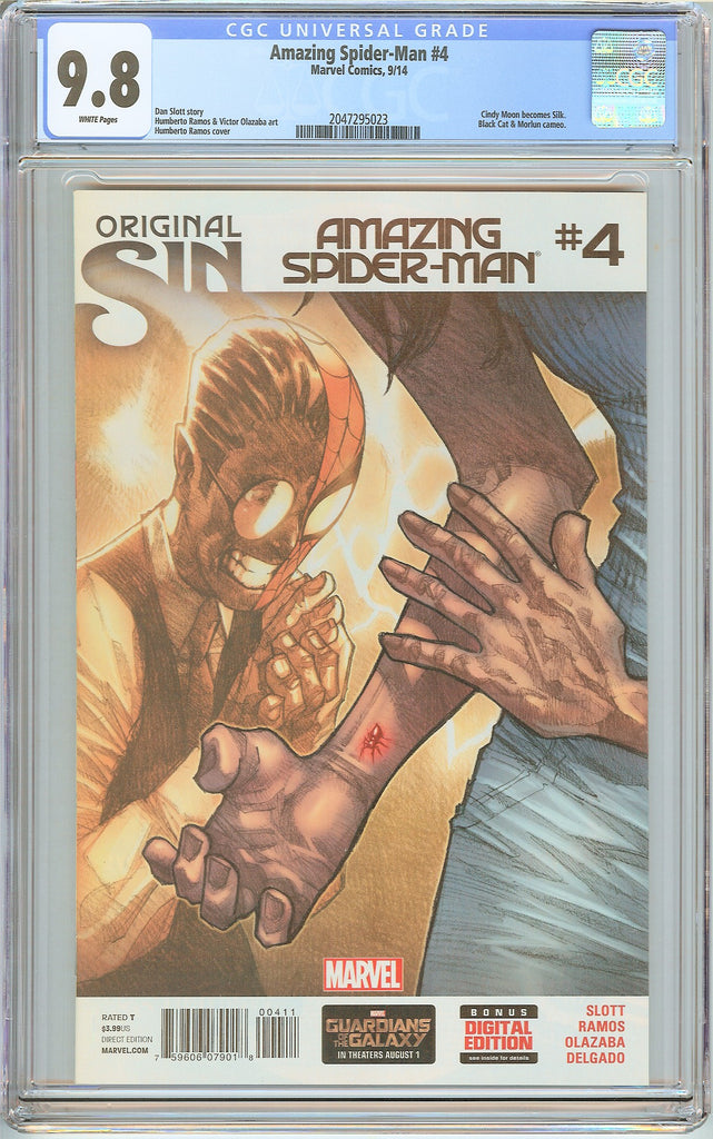 Amazing Spider-Man #4 CGC 9.8 White Pages (2014) 2047295023