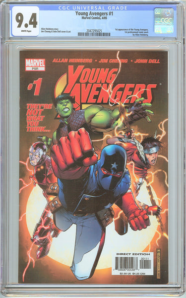 Young Avengers #1 CGC 9.4 White Pages (2005) 2047295025