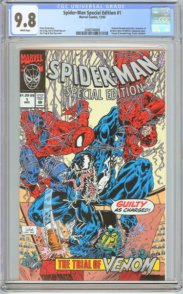 Spider-Man Special Edition #1 CGC 9.8 White Pages 2048744008