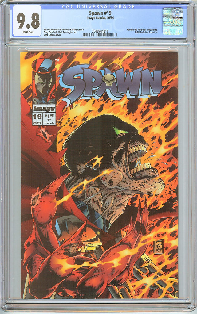 Spawn #19 CGC 9.8 White Pages (1994) 2048744011