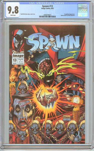 Spawn #13 CGC 9.8 White Pages (1993) 2048744015