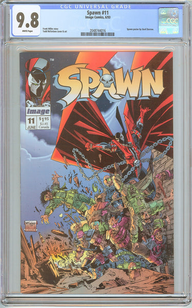 Spawn #11 CGC 9.8 White Pages (1993) 2048744016