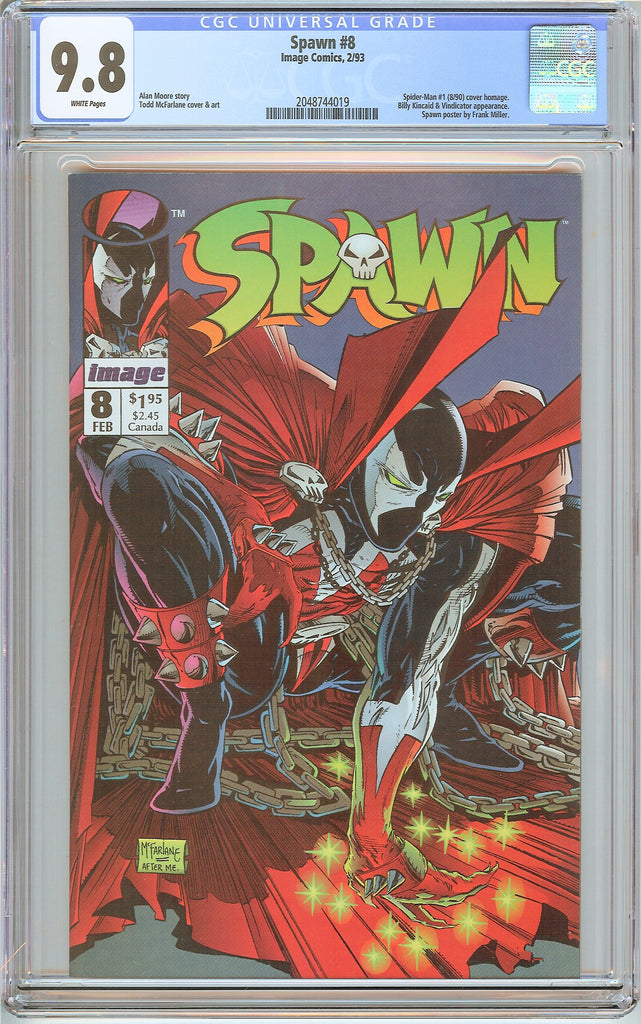 Spawn #8 CGC 9.8 White Pages (1993) 2048744019