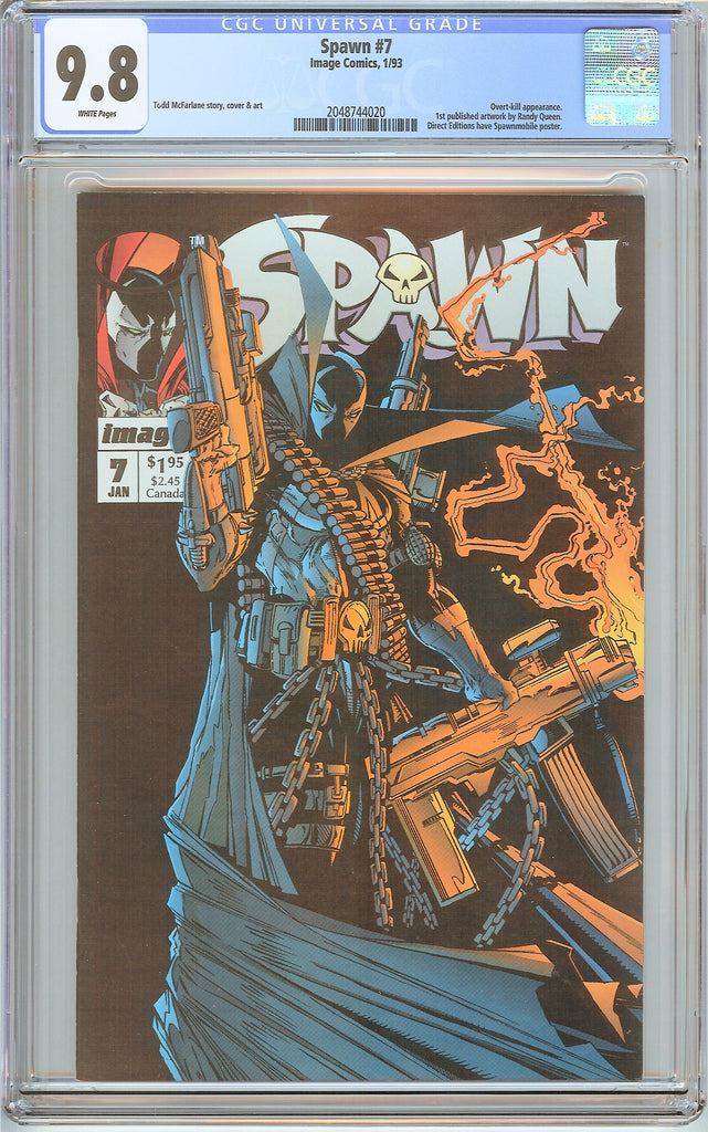 Spawn #7 CGC 9.8 White Pages (1993) 2048744020