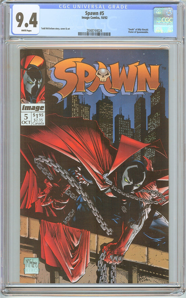 Spawn #5 CGC 9.4 White Pages (1992) 2048744024