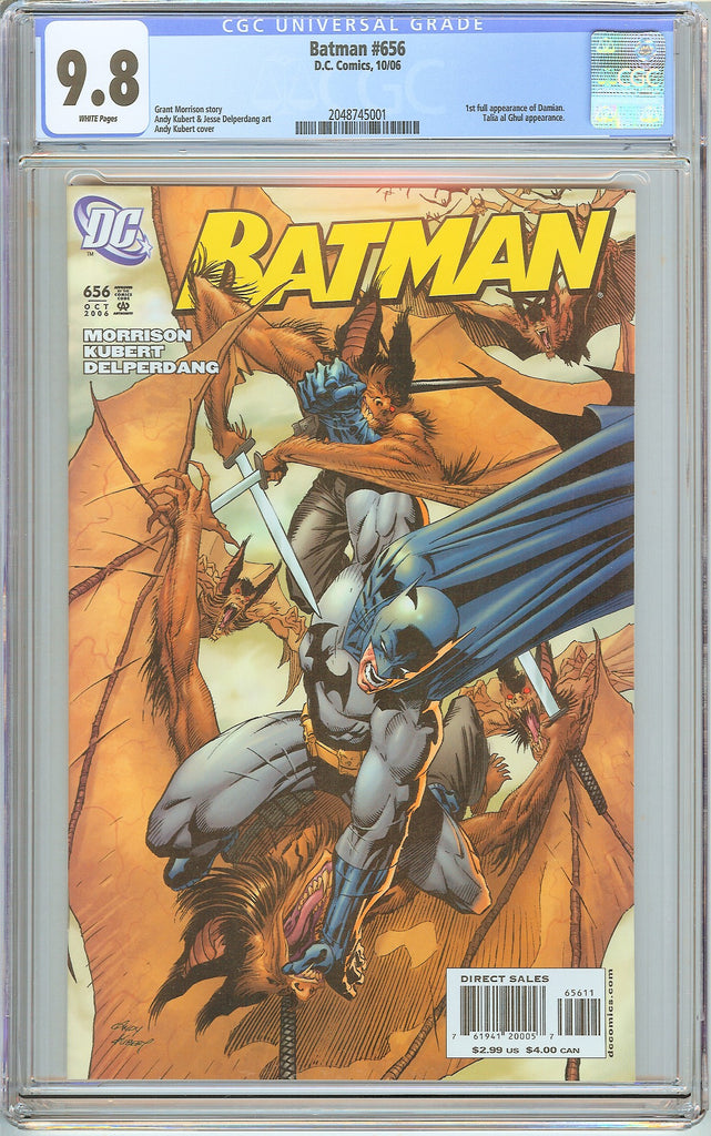 Batman # 656 CGC 9.8 White Pages 2048745001 Damian