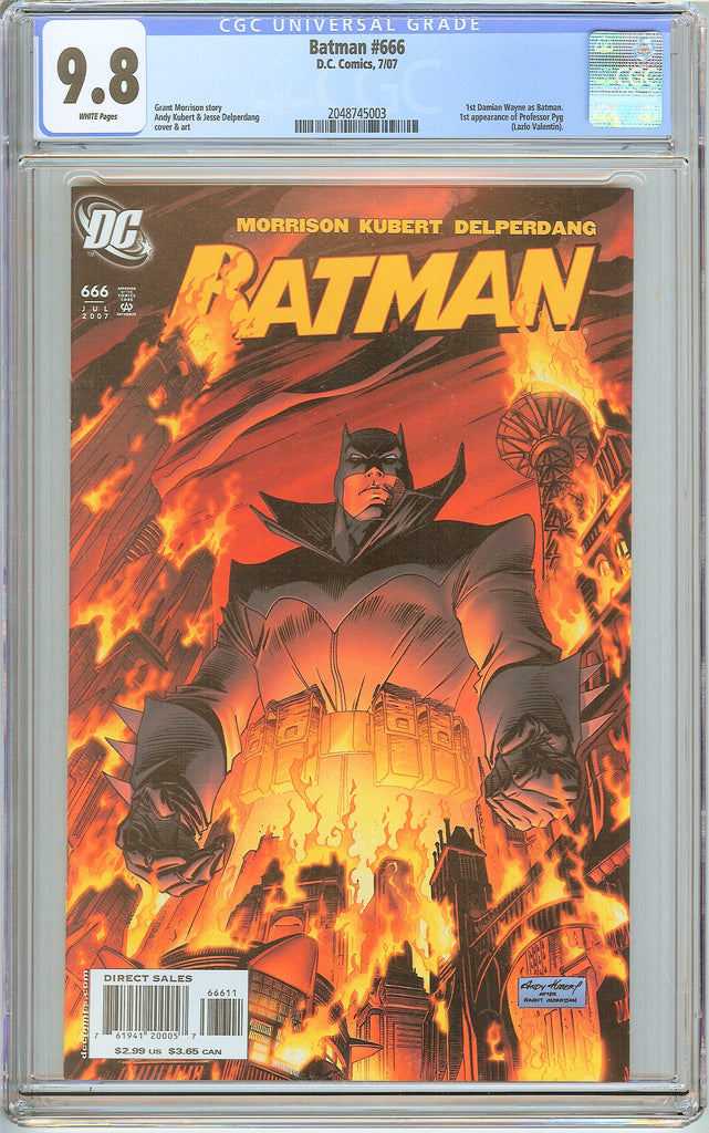 Batman # 666 CGC 9.8 White Pages 2048745003 Damian