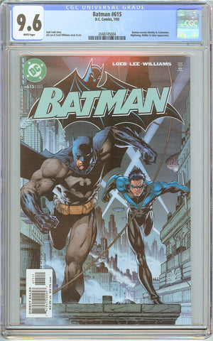 Batman # 615 CGC 9.6 White Pages (2003) 2048745004