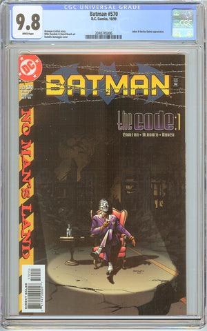 Batman # 570 CGC 9.8 White Pages 2048745006